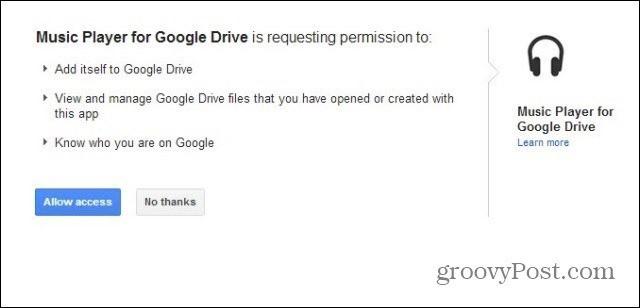 google drive mp3 player allow