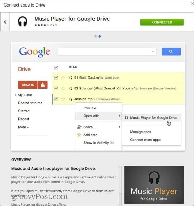 google drive mp3 player music player for google drive