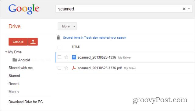 google drive scan drive