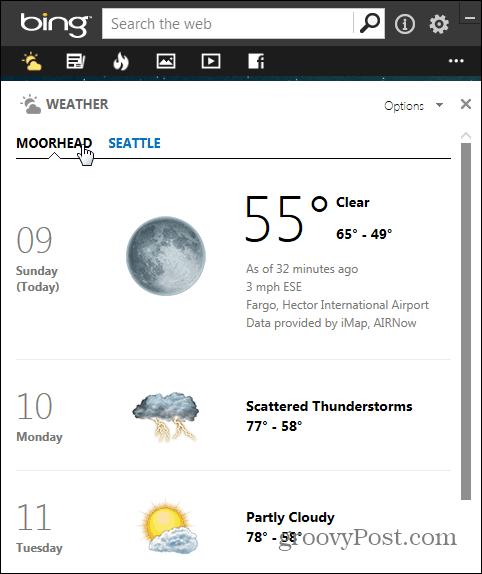 Bing Desktop Weather