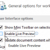 Disable Office Live Preview