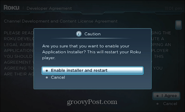 Enable Installer and Restart