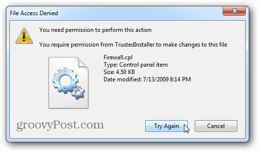 File Permission Denied