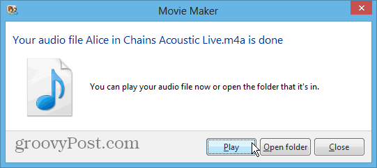How To Extract Audio from Video Files with Windows Movie Maker