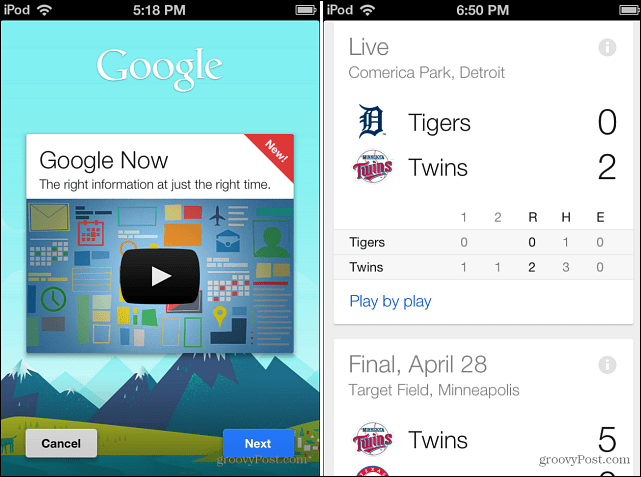 Google Now on iOS