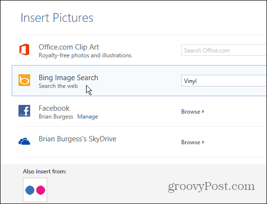 Finding the right image to insert in to Word and PowerPoint document can be challenging at How To Insert Online Photos in Office 2013 Documents