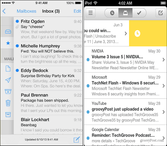 Mail iOS 7 and Mailbox App