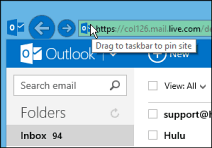 How To Pin Outlook com to the Windows Taskbar