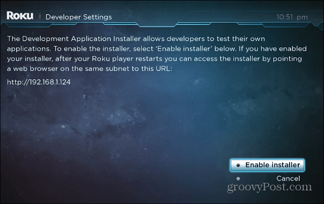 Roku Developer Mode
