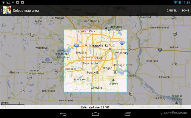 Select Google Map Area