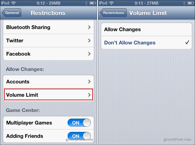 Volume Limit Restriction Changes
