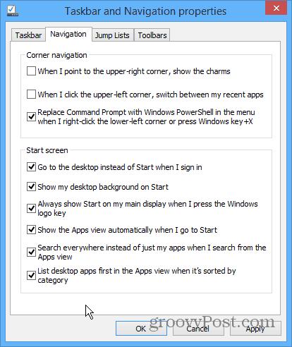 Win8_1 Navigation Options