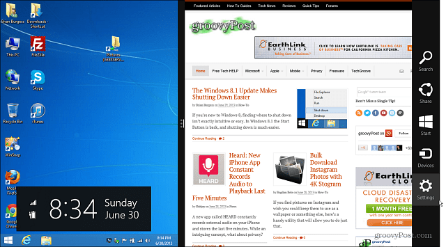 Windows 8.1 modern UI Desktop