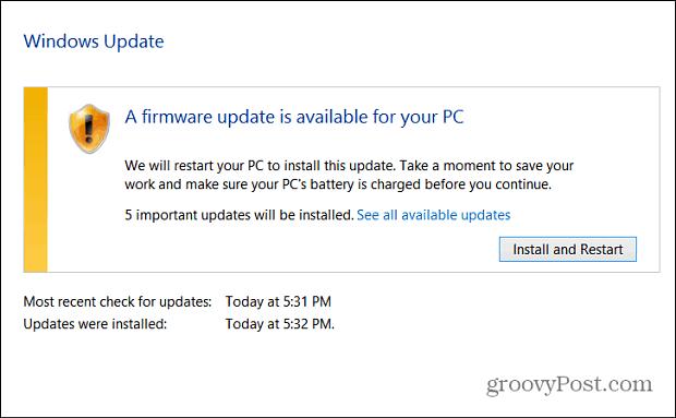 Windows Update Firmware