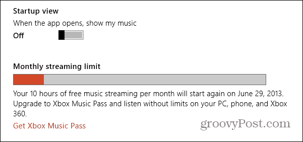 Xbox Music Streaming Limit