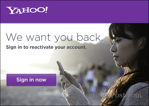 Yahoo Mail Reactivate