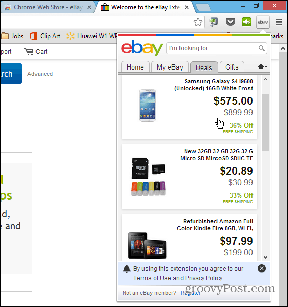 eBay Chrome