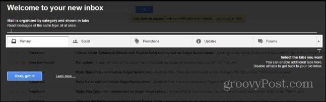 gmail tabs walkthrough