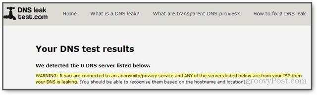 Windows 8 passesd opendns DNS leak test
