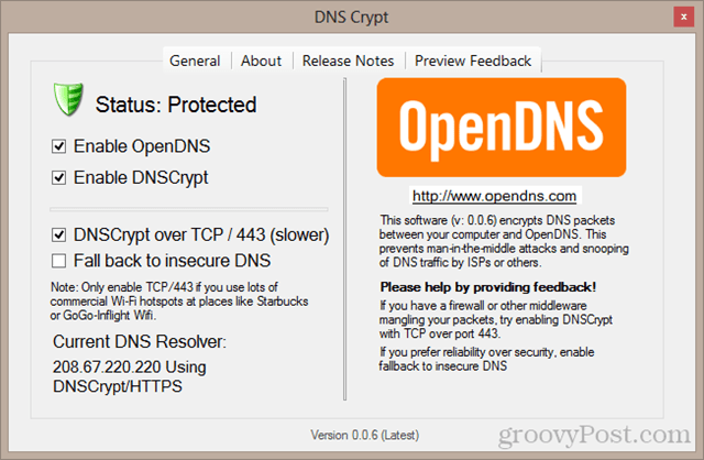 DNS crypt - high security settings