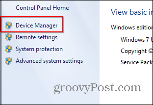 remove on-board card device manager