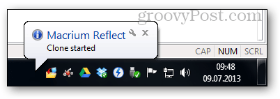 10 - tray notification popup cloning started