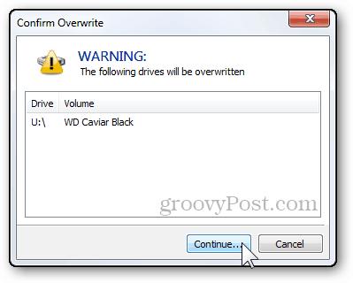 9 - warning dialog final files delete overwrite