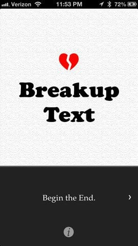 BreakupText app