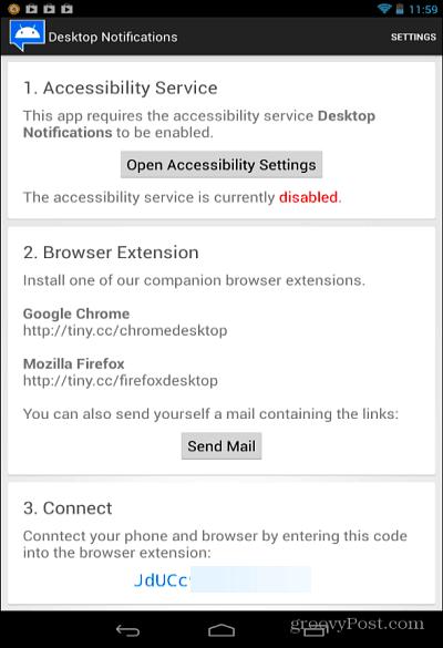 Desktop Notification Connect