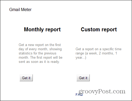 Gmail Meter report