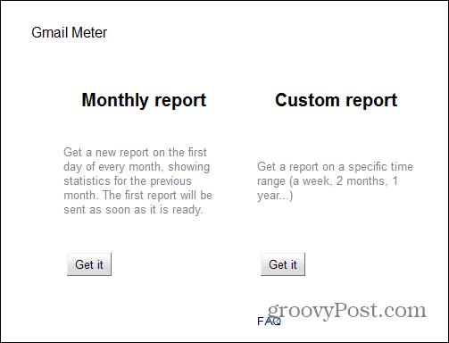 Gmail Meter report