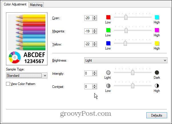 Manual Adjust Color