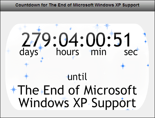 Windows XP Support Countdown