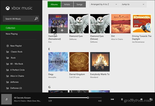 Xbox Music Web Interface