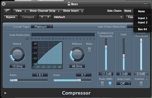 compressor settings