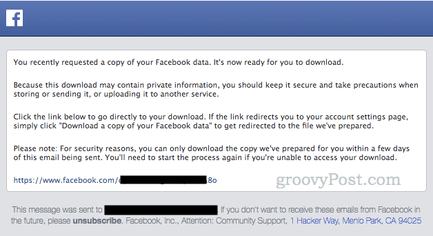 how to download a full copy of all of your facebook pictures videos