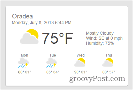 google chrome google now weather card