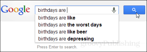 What google thinks of birthdays