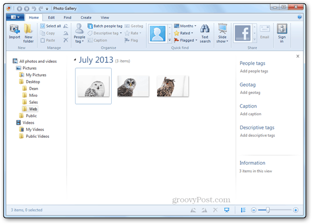 photos resizing tutorial windows live photo gallery interface main folder