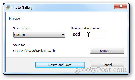 photos resizing tutorial windows live photo gallery maximum dimensions manually enter size pixels width height