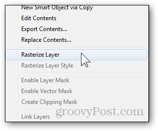 rasterize layer menu context option feature make layers editable