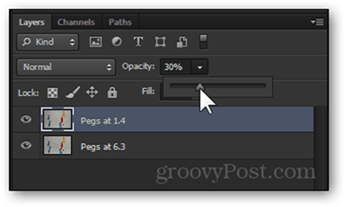 opacity change 30 percent lower opacity visibility photoshop layer