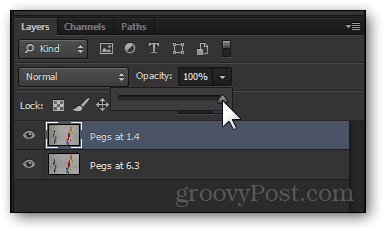 layer opacity change photoshop return 100 percent visibility