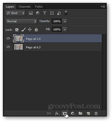 layer mask icon mini small icon click create layer mask add photoshop