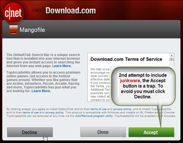CNET Joins the Dark Side, its Download com Attempts to Fill