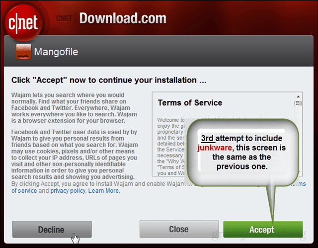 CNET wants you to click accept!