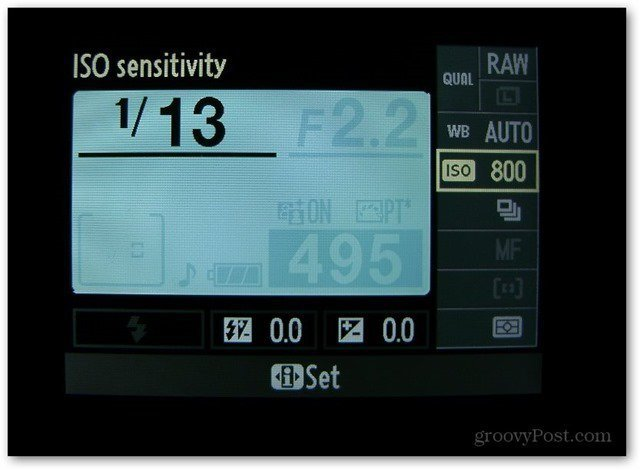 iso sensitivity dslr nikon interface iso 800 set exposure triangle ebay sell items photo tip