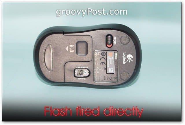 mouse bottom photo ebay listing list photo studio shot flash fired directly harsh light