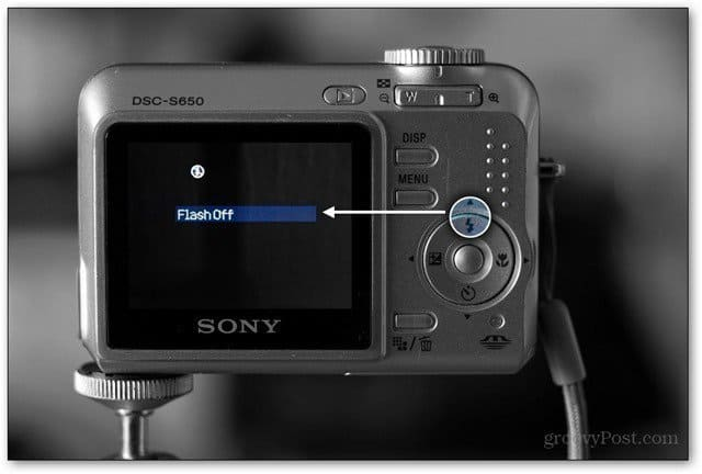 point and shoot flash disable button feature highlight ebay photos tip trick sell