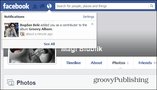 Facebook Shared Photo Albums Contributors Notification